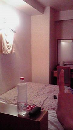 宿泊ホテルでは